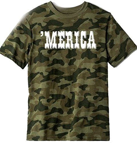 Custom Kingdom Boys/Girls Merica USA T-Shirt (4/5, Camouflage) ()