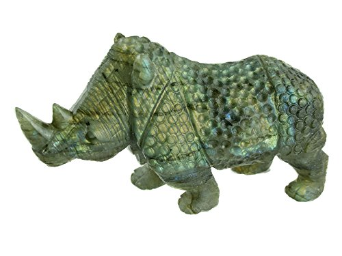 Rhino Carving in Labradorite Collectible Item by Simplicity (Image #4)