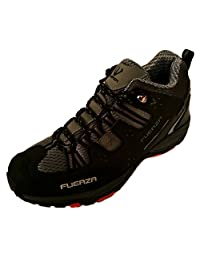 Fuerza Mens Outdoor Tracking Hiking Trail Running Shoes - Black
