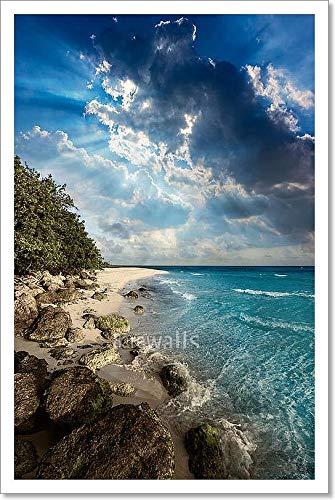 Florida Keys Beach Bahia Honda Park Us Paper Print Wall Art (18 in. x 12 in.)