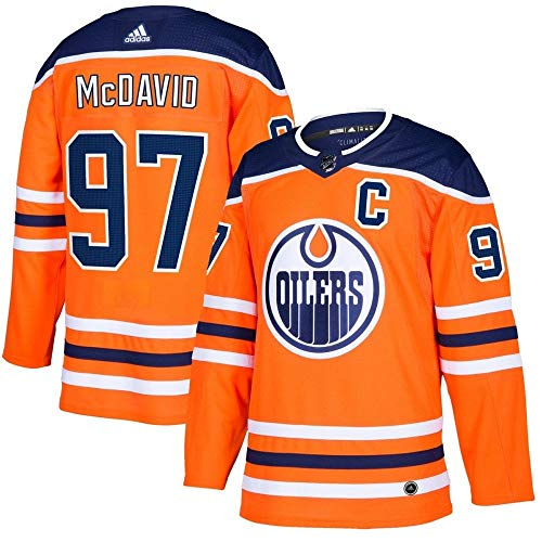 Oilers Jersey - adidas Connor McDavid Edmonton Oilers NHL Men's Authentic Orange Hockey Jersey
