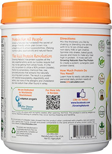 Growing Naturals Organic Rice Protein Powder, Original, 16.2 Ounce by Growing Naturals (Image #4)