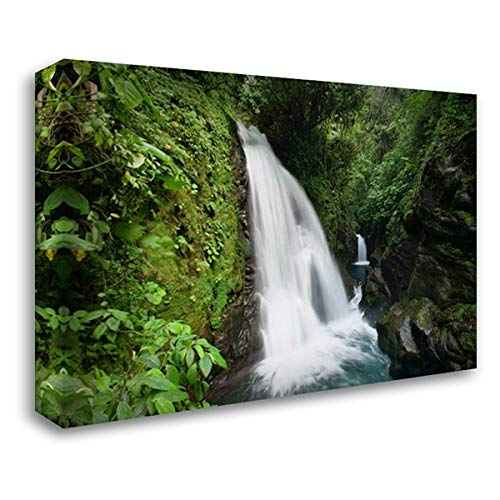 (La Paz Waterfalls in Rainforest, Costa Rica 38x26 Gallery Wrapped Stretched Canvas Art by Wothe,)