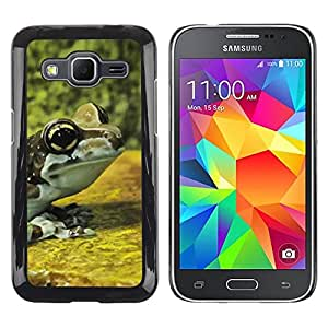 LECELL--Funda protectora / Cubierta / Piel For Samsung Galaxy Core Prime SM-G360 -- Frog Yellow Nature Forest --