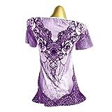 Handyulong Plus Size Women Shirts Short Sleeve
