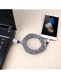 CIQILY - Cable de carga rápida trenzado largo de 5.9 ft, 6 patas