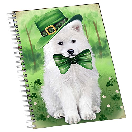 St. Patricks Day Irish Portrait Samoyed Dog Notebook NTB49052
