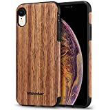 cork flooring durability Mthinkor Compatible with iPhone XR Case Soft Wood Slim Case (Red Sandalwood)