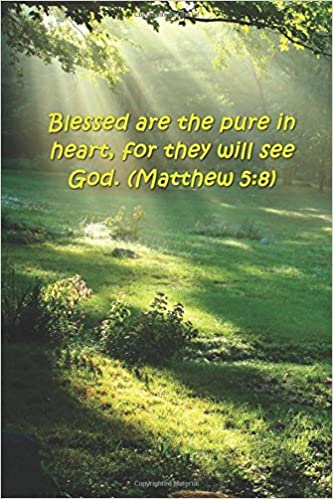 buy beatitudes blessed pure heart 5 8 bible verse journal bible