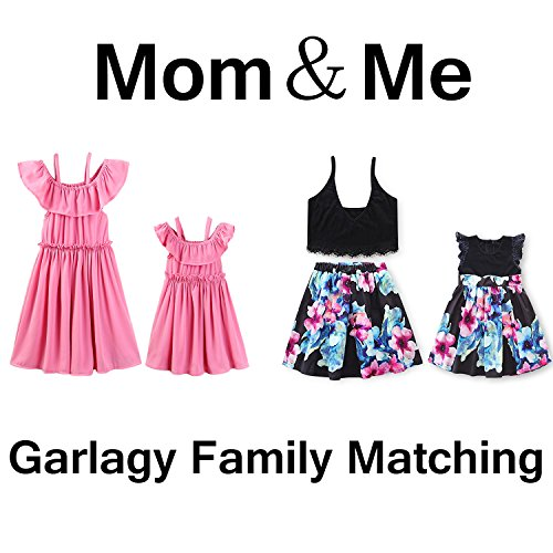 e26d2756a22 Garlagy 2018 Mommy and Me Family Matching Outfits for Mother Toddler Baby  Girl Casual Beach Dresses