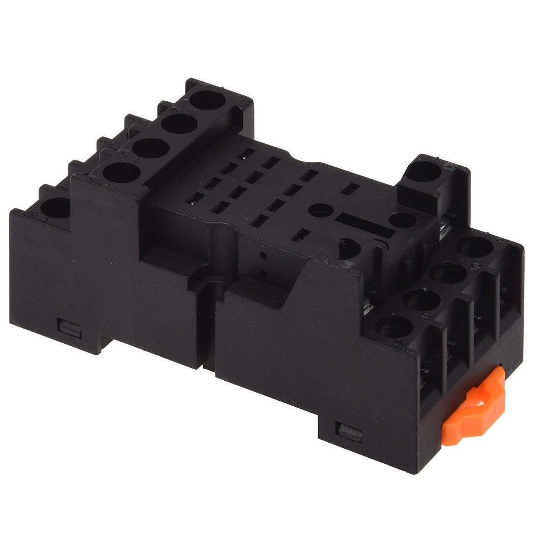 TOOGOO(R) PYF14A DIN Rail Power Relay Socket Base 14 Pin for MY4NJ HH54P MY4