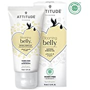 ATTITUDE Natural Pregnancy Stretch Oil: EWG Verified, Hypoallergenic & Dermatologist Tested - Blooming belly (2.6 oz)