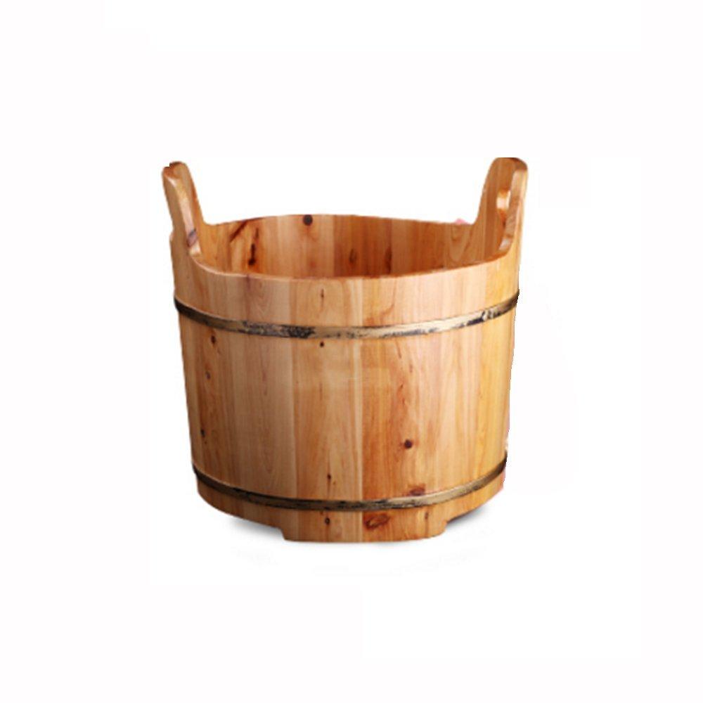 ZHANGRONG- 家庭用ソリッドウッドリフレクソロジー浴槽シダーフットバスバレルフットバスフットベイスン B07D46DMMW