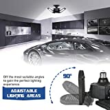 LED Garage Lights,60W E26/E27 6000LM Deformable LED