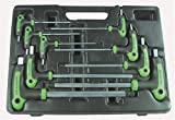 Astro 1025 SAE T-4 Handle Ball Point and Hex Key Wrench Set 9 PC.