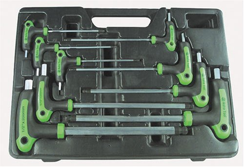 Astro 1025 SAE T-4 Handle Ball Point and Hex Key Wrench Set 9 PC. by Astro Pneumatic Tool