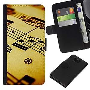 Stuss Case / Funda Carcasa PU de Cuero - La notación musical - Samsung ALPHA G850