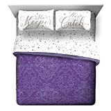 Jay Franco Harry Potter Whimsical Witch 5 Piece Queen Bed Set - Includes Reversible Comforter & Sheet Set - Super Soft Fade Resistant Polyester - (Official Harry Potter Product)