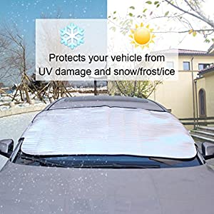 Sun,Snow Windshield Cover,EFORCAR Car Front Rear Window Snow Cover,Frost Ice Sun Snow Dust Shield Protector