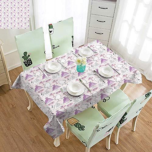DILITECK Restaurant Tablecloth Swan Princess Dress Gown Magic