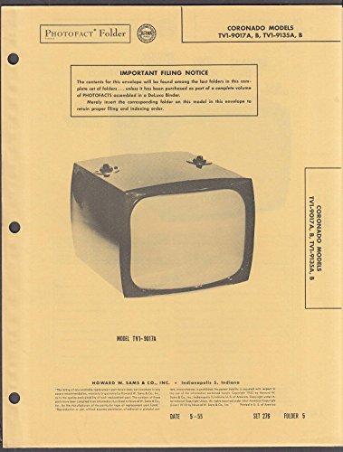 Coronado TV Model TV1 Photofact Folder ()