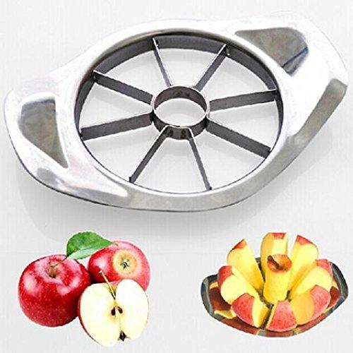 jhtceu Stainless Steel Fruit Easy Slicer Apple Corer Pear Cutter Knife Kitchen Tool