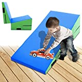 47.2x23.6x13.7inch Incline Gymnastics Wedge Ramp Mat Folding Fitness Tumbling Children Safety Pad
