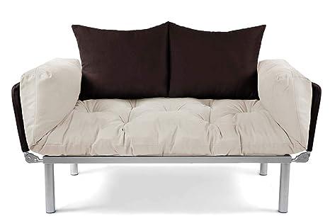 Easysitz Schlafsofa Fur Ein Sofa 2 Sitzer Kleines Couch 2 Sitzer Schlafsessel Zweisitzer Personen Mein Futon Sitzen Einer Farbauswahl Creme Braun