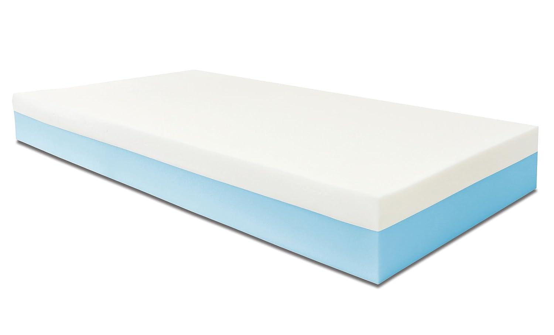 Baldiflex Matelas 2 couches Monozone 9 + 3 cm de mousse de mémoire, Maxicool, coussin modèle flocon inclus. 70X190x14 cm