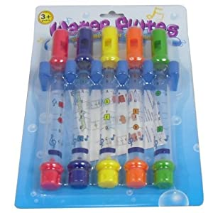 Pack of 5 Bath Water Flutes Toy for Kids To Have Bath Inc Music Sheets
