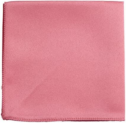 Tuxgear Mens Pocket Square Hanky Multiple Solid Colors Sized for Boys and Men