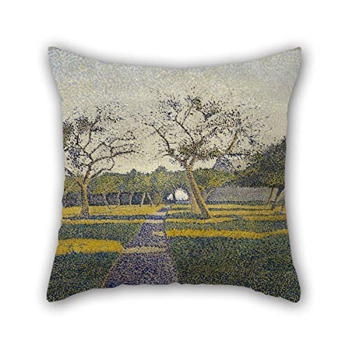Throw Pillow Covers Of Oil Painting Alfred William Finch - Orchard At La Louvi??re For Coffee House Lover Shop Outdoor Adults Father 16 X 16 Inches / 40 By 40 - At Orchard Old Shops