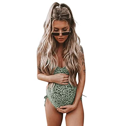 b72de0d8d3c7 Maternity Swimwear Womens Bikinis Tankini Summer Nursing Leopard Print  Swimsuits Pregnancy Beachwear,Ladies Sexy Tops