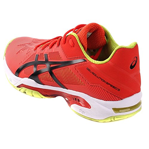 Asics Speed Chaussures Tennis Solution 3 De Gel Rouge eWHE92IDY