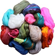 Assorted Merino Roving Ends & Mixed Fiber Waste - Bulk Top Fiber for Felting, Spinning & Blending