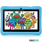 NeuTab 7 inch Kids Tablet 1GB RAM 8GB Nand Flash1280x800 Wide Viewing Screen, Kids Model w/ Parental control Pre-installed, FCC Certified - Blue