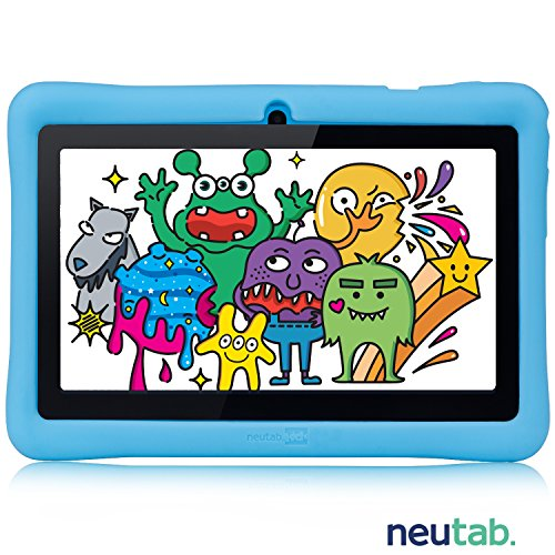 NeuTab 7 inch Kids Edition Quad Core Tablet, 7'' HD IPS Wide Viewing Angle Screen 1GB RAM Android 5.1 Lolipop System w/ iWawa Software Bundle Kids Model Pre-installed, FCC Certified (Blue) (Animal Jam Member Card)