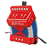 Kids Accordion Music Collection Accordion with Songbook Piano Percussion Accordion Premium Educational Musical Instrument for Students