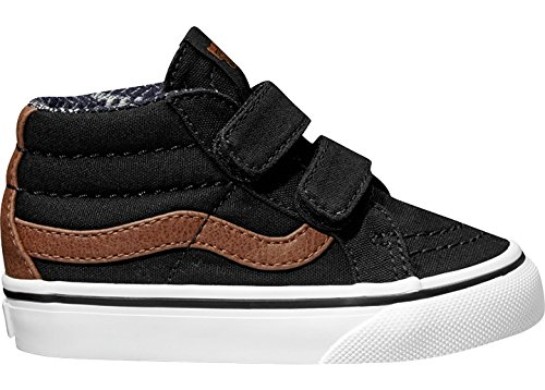 Vans Boys' SK8-Mid Reissue V-K, Black/Material Mix, 9.5 M US Toddler