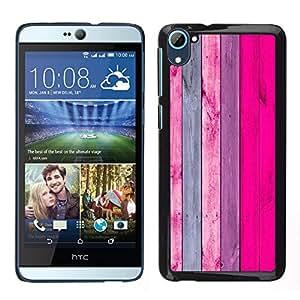 Stuss Case / Funda Carcasa protectora - Patrón de textura de madera gris del rosa; - HTC Desire D826