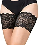 Kyпить Bandelettes Elastic Anti-Chafing Thigh Bands - Prevent Thigh Chafing - Dolce Black, Size C на Amazon.com