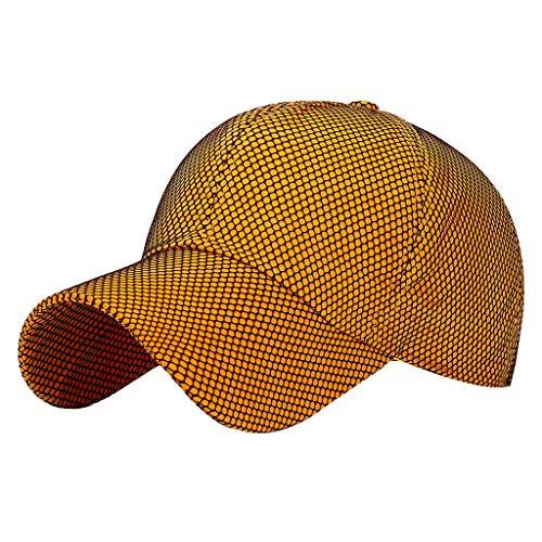 Vielgluck Quick Dry Baseball Hat for Women, Adjustable Race Running Cap Travel Mesh Sunscreen Visor Hat Best Gift for Her Orange