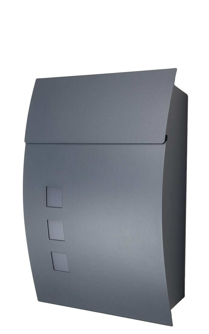 Letterbox / Mailbox / Post Box, Model 444,  Anthracite-Grey, RAL7016 Fairpreis-Design