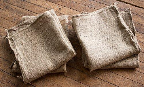 23 x 40 CleverDelights Premium Burlap Bag Natural Jute Burlap Sack Heavy Duty Stitching Sack Races