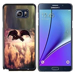 Stuss Case / Funda Carcasa protectora - Pintura Indie Rock Pluma Dios - Samsung Galaxy Note 5