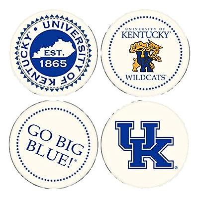 Coasting & Hosting Absorbent Set of Four Coasters, NCAA Kentucky Wildcats UK Big Blue