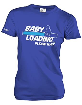 BABY LOADING - BLAU - Royalblau - WOMEN T-SHIRT by Jayess Gr. XS