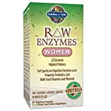 Garden of Life Vegetarian Digestive Supplement for Women - Raw Enzymes Women for Digestion, Bloating, Gas, and IBS, 90 Capsules