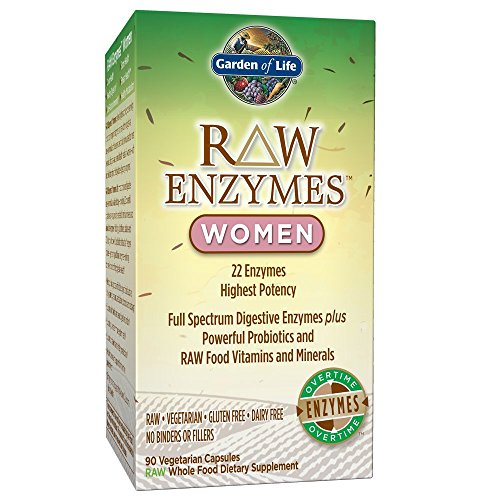 Garden of Life Vegetarian Digestive Supplement for Women – Raw Enzymes Women for Digestion, Bloating, Gas, and IBS, 90 Capsules…