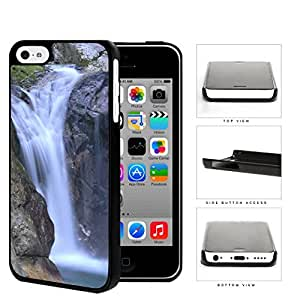 Mountain Cliff Waterfall Scenery Hard Plastic Snap On Cell Phone Case Apple iPhone 5c by supermalls